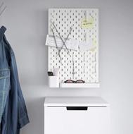 SKÅDIS Tablero perforado comb - Blanco - 36 x 56cm