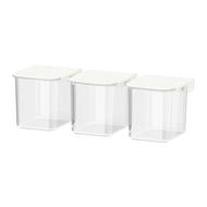 SKÅDIS - Recipiente con tapa para tablero perforado comb, blanco - IKEA