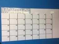 Adhesivo calendario mensual (120 x 60 cm), color blanco