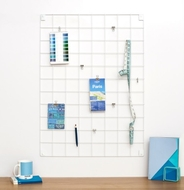 Metal Panel tablero Memo - Blanco - Grande - 60 x 80cm