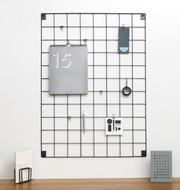 Metal Panel tablero Memo - Gris - Grande - 60 x 80cm