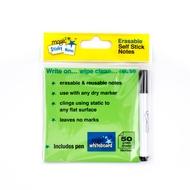 5 * Notas Adhesivas Mágicas VERDES - 50 hojas - incluye marcador gratis