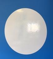 1 Pizarra circular blanca diámetro de 60 cm