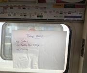 Magic Whiteboard used on London Tube train