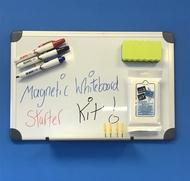 Pizarra magnética 30 x 45 cm.  Incluye marcadores de pizarra blanca, borrador de pizarra e Paños Mágicos- 25 por pack