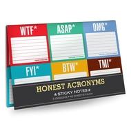 Knock Knock notas adhesivas - 6 paquetes