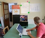 Turn your kitchen into an office with Magic Whiteboard