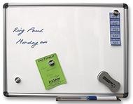 Pizarra magnética 90 x 120cm.  Incluye marcadores de pizarra blanca, borrador de pizarra e Paños Mágicos- 25 por pack