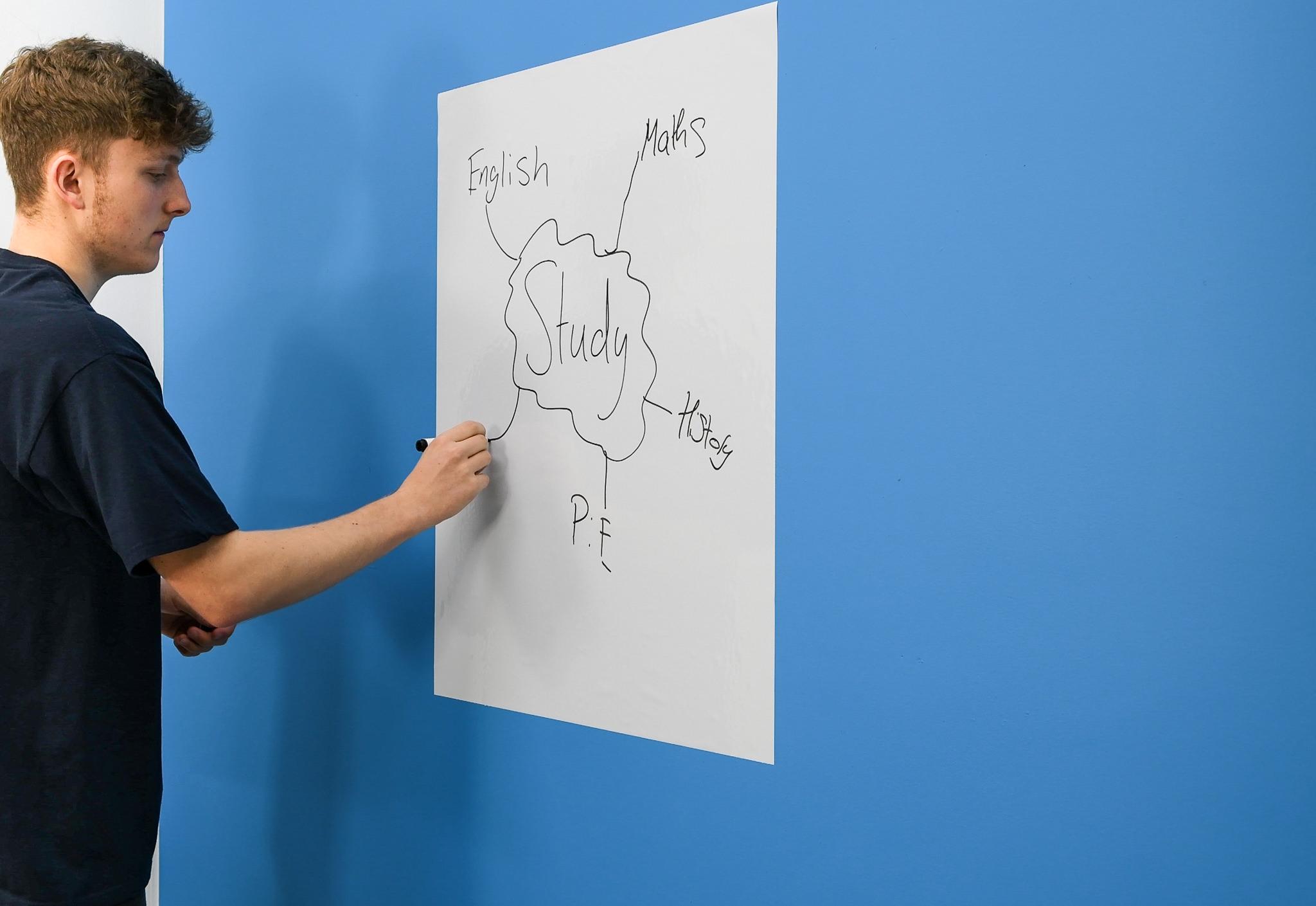 A1 Magic Whiteboard on wall