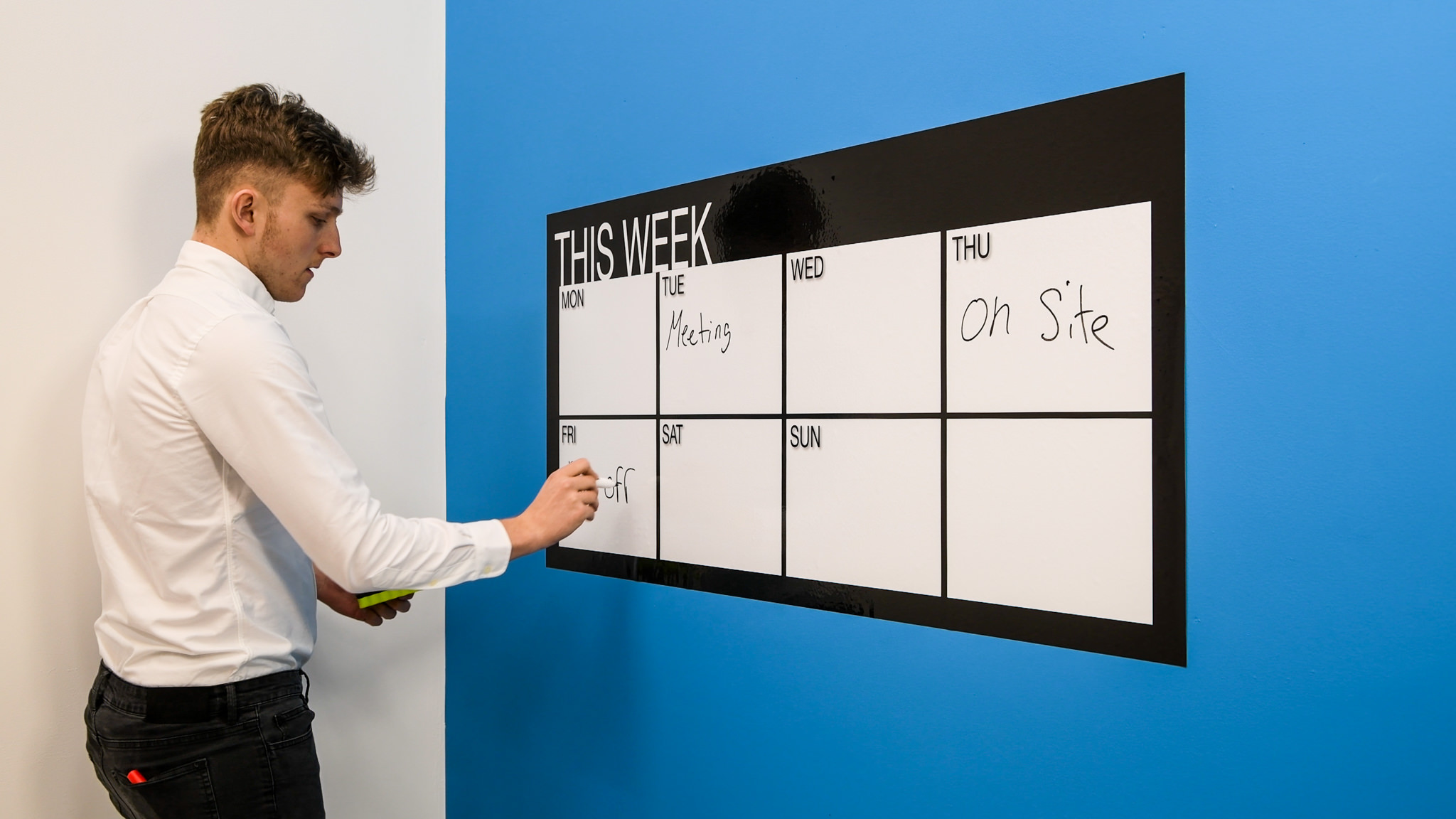 THIS WEEK - Whiteboard planner and whiteboard calendar