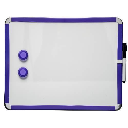 Pizarra de nevera magnética 28 x 36 cm. Azul. Incluye marcador de pizarra blanca e 2 imanes