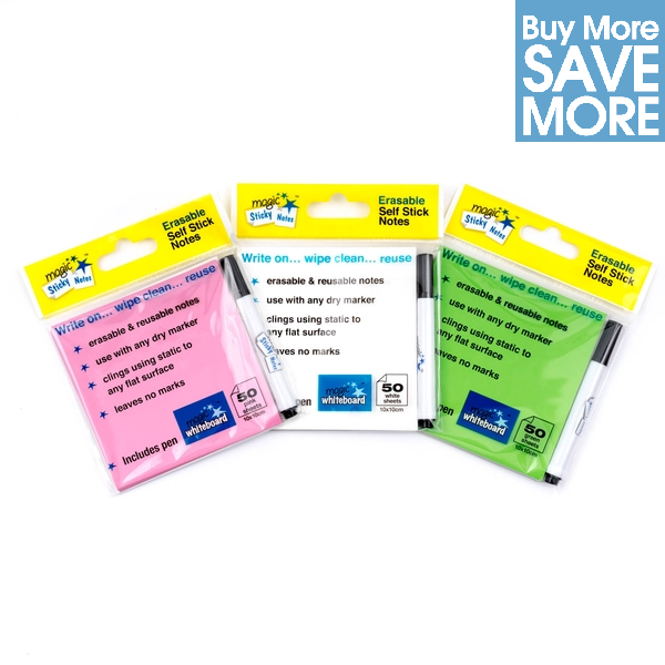 multi pack de notas adhesivas, multi pack post its,notas adhesivas borrables, mejores notas adhesivas