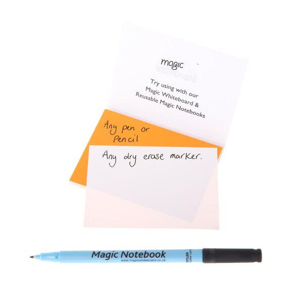 notas reusables naranjas, notas adhesivas magicas