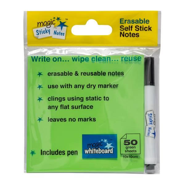 Notas Adhesivas Mágicas verdes, las mejores notas post it, notas post it baratas, mejores notas adhesivas, notas adhesivas baratas