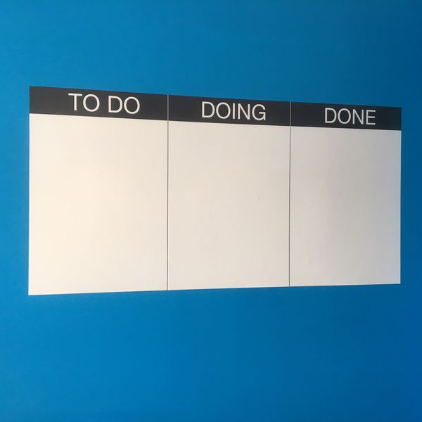 Whiteboard Planner - TO DO, DOING, DONE - 120cm by 60cm