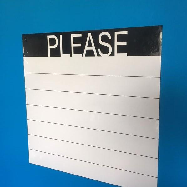 PLEASE Adhesivo  (50 x 50 cm), color blanco