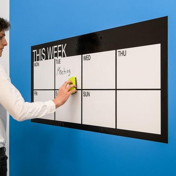 Calendario semanal adhesivo