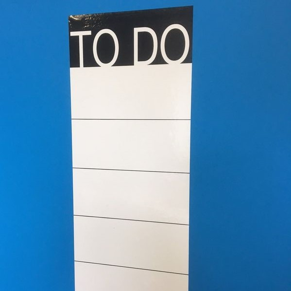 TO DO Adhesivo  (20 x 50 cm), color blanco
