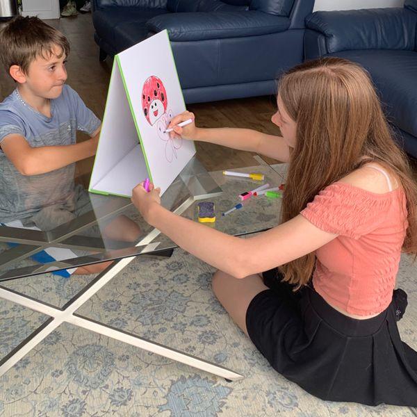 🧲 A-Frame La Pizarra magnética para niños