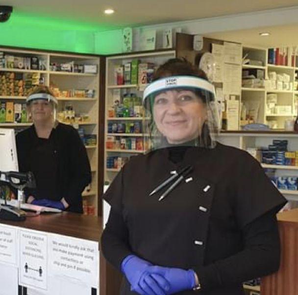 pharmacy face shileds, chemist face shields