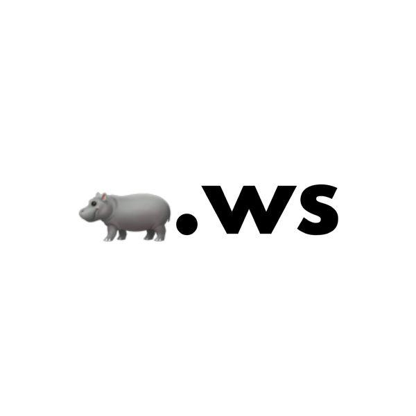 🦛.ws Single Emoji Domain