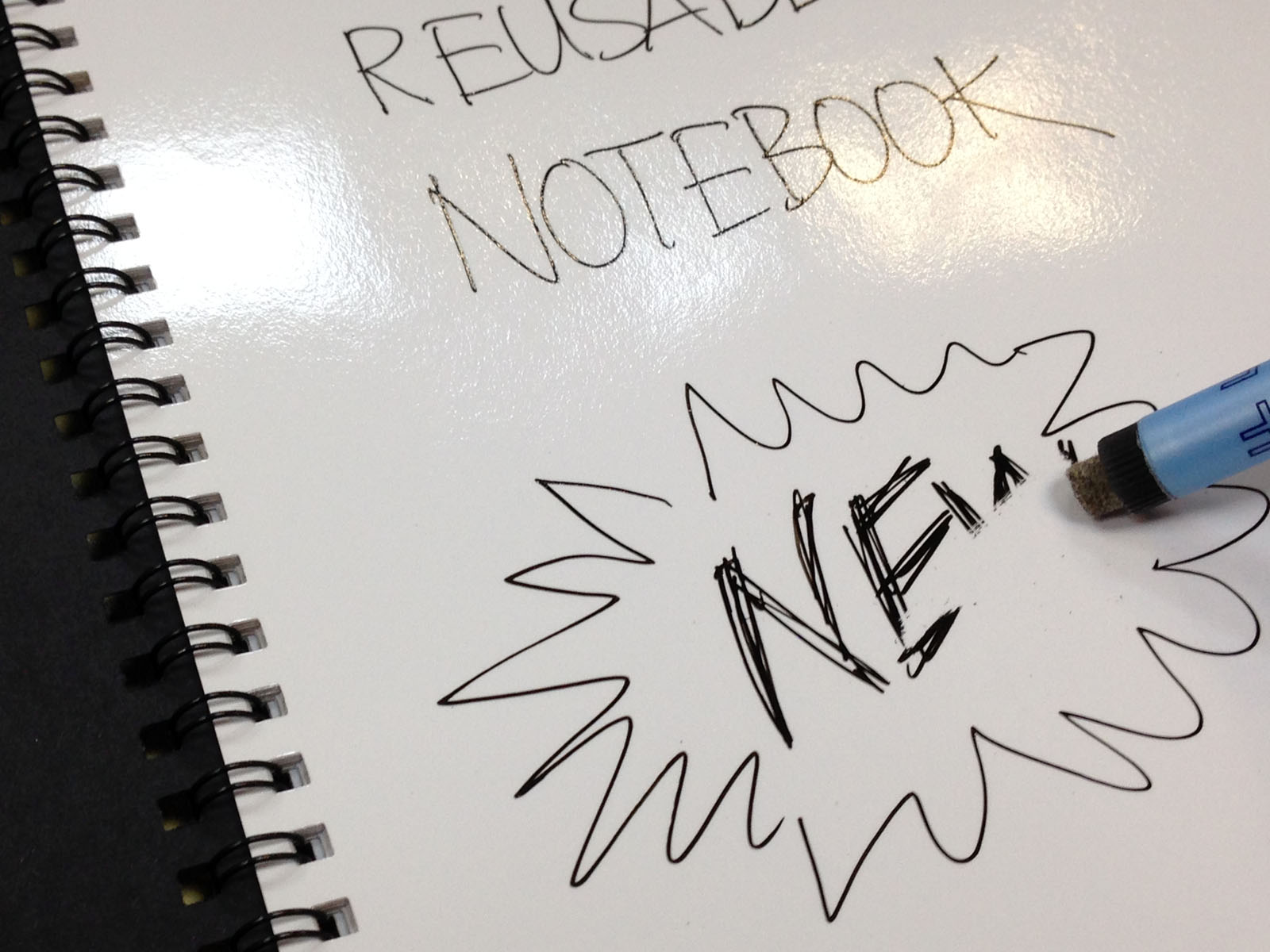 Magic Notebook ™ - the original and best reusable whiteboard notebook